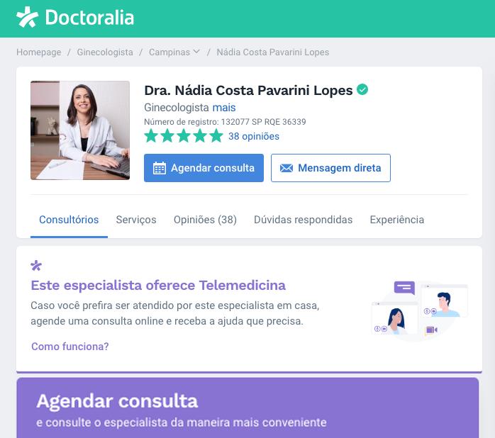 agendar consulta telemedicina